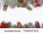 Christmas Frame Border On White ...