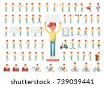 set of men character vector... | Shutterstock .eps vector #739039441