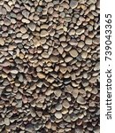 abstract pebble gravel stone at ... | Shutterstock . vector #739043365