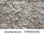 grey plaster background ...   Shutterstock . vector #739044355