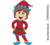 Christmas Elf   Girl Cartoon