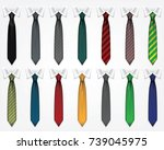 set of ties | Shutterstock .eps vector #739045975