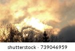 sun in the clouds. | Shutterstock . vector #739046959