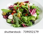 greek salad | Shutterstock . vector #739052179