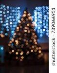 christmas lights background... | Shutterstock . vector #739066951