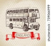 hand drawn sketch england... | Shutterstock .eps vector #739066999