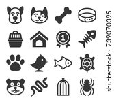 pets icons set | Shutterstock . vector #739070395
