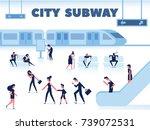 city public transport. people... | Shutterstock .eps vector #739072531