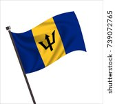 flag of barbados. barbados icon ... | Shutterstock .eps vector #739072765