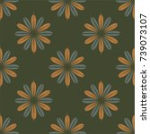 new color seamless pattern with ... | Shutterstock . vector #739073107