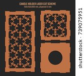 diy laser cutting vector scheme ... | Shutterstock .eps vector #739075951