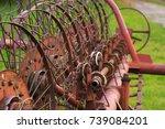 Old Agriculture Machine   Rake...