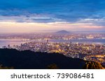 george town city view from... | Shutterstock . vector #739086481