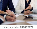 group of business people or... | Shutterstock . vector #739089979
