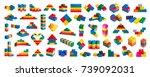 plastic building blocks...