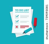 to do list or planning icon... | Shutterstock .eps vector #739093081