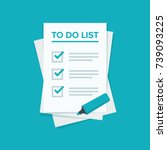 to do list or planning icon... | Shutterstock .eps vector #739093225