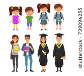 vector cartoon style  set of... | Shutterstock .eps vector #739096255