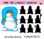 happy snowman. find the correct ... | Shutterstock .eps vector #739097875