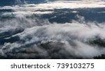 thailand trek in rain season. | Shutterstock . vector #739103275