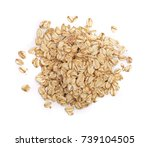 oat flakes isolated on white... | Shutterstock . vector #739104505