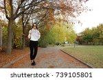 student in public park. | Shutterstock . vector #739105801