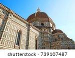 duomo basilica cathedral church ... | Shutterstock . vector #739107487