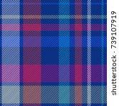 modern checkered print.... | Shutterstock .eps vector #739107919