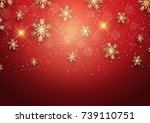 christmas background with... | Shutterstock .eps vector #739110751