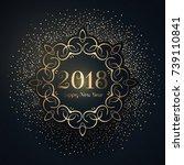 decorative happy new year... | Shutterstock .eps vector #739110841