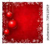 christmas background with... | Shutterstock .eps vector #739110919