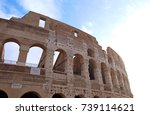 colosseum in rome  italy | Shutterstock . vector #739114621