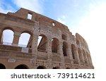 colosseum in rome  italy | Shutterstock . vector #739114621