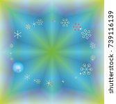 round frame or border christmas ... | Shutterstock .eps vector #739116139