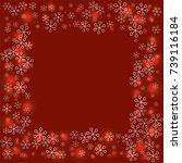 square frame or border... | Shutterstock .eps vector #739116184