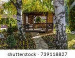 Wooden Summer House In The...