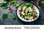 homemade autumn apple cranberry ...   Shutterstock . vector #739120534