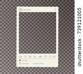 old photo frame  vector... | Shutterstock .eps vector #739121005