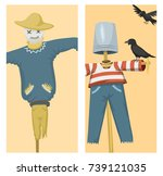 different dolls toy character... | Shutterstock .eps vector #739121035