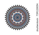 flower mandalas. vintage... | Shutterstock .eps vector #739123054