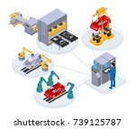 automated production line under ... | Shutterstock . vector #739125787