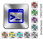 command prompt engraved icons... | Shutterstock .eps vector #739127269