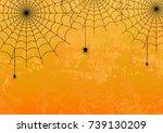 halloween vector background...   Shutterstock .eps vector #739130209