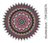 flower mandalas. vintage... | Shutterstock .eps vector #739133074