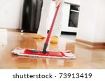 House Cleaning  Mopping...