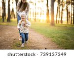 mother and daughter | Shutterstock . vector #739137349