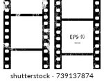 vector image of a film. brush... | Shutterstock .eps vector #739137874