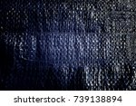 creased plastic blue... | Shutterstock . vector #739138894
