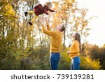 family in forest | Shutterstock . vector #739139281