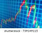 forex market charts on computer ... | Shutterstock . vector #739149115